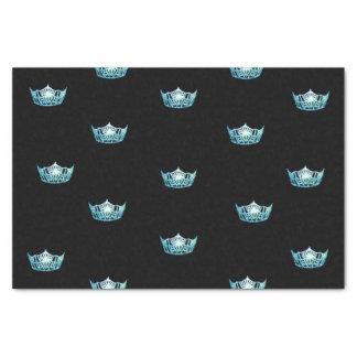 Lenço de papel da coroa do Aqua da senhorita