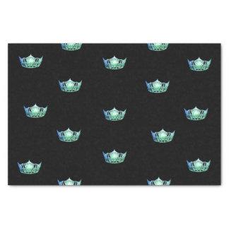 Lenço de papel da coroa do verde do Aqua da