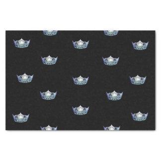 Lenço de papel da coroa dos azuis bebés da