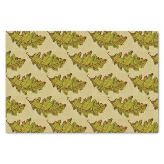 Lenço de papel da folha do carvalho