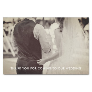 Lenço de papel da foto do casamento
