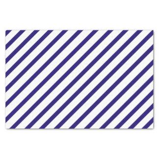 Lenço de papel da listra de azuis marinhos