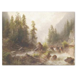 Lenço de papel da ponte do córrego da montanha do