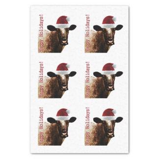 Lenço de papel da vaca do feriado