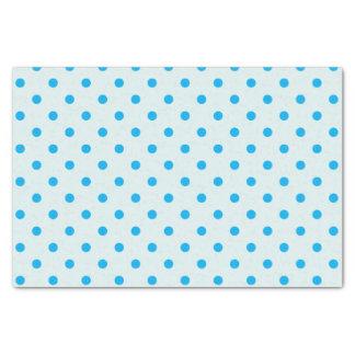 Lenço de papel das bolinhas do azul & dos azul-céu