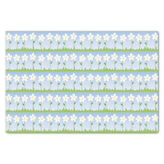Lenço de papel das flores brancas