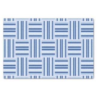Lenço de papel das listras azuis