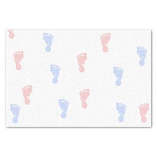 Lenço de papel das pegadas 10lb do bebê