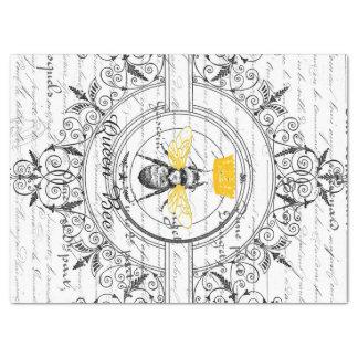 Lenço de papel de Decoupage da abelha de rainha