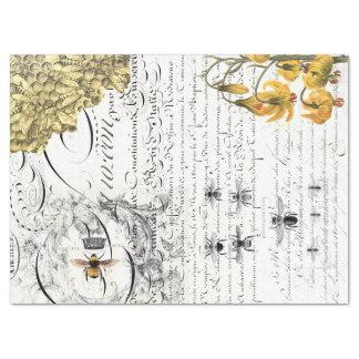 Lenço de papel de Decoupage da abelha do roteiro