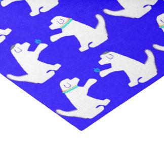 Lenço de papel de Hanukkah com cães bonitos