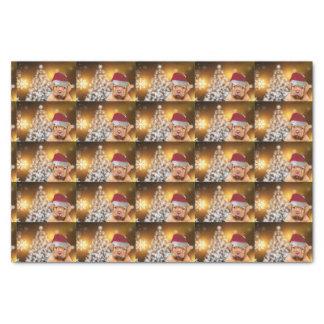 Lenço de papel de Natal Dogue de Bordéus