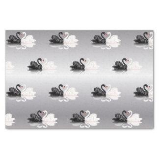Lenço de papel de prata das cisnes do casamento