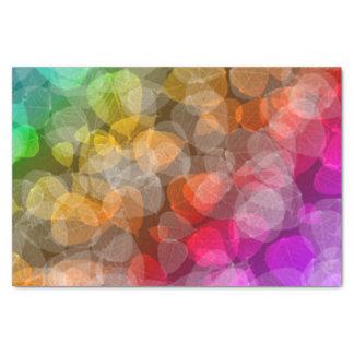 Lenço de papel do arco-íris do outono