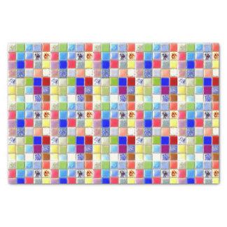Lenço de papel do azulejo do mosaico