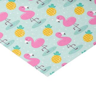 Lenço de papel do flamingo do abacaxi
