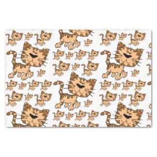 Lenço de papel do gato