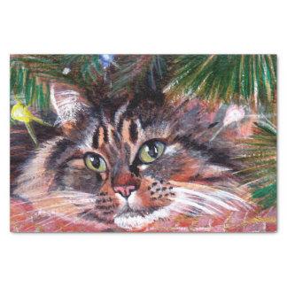 Lenço de papel do gato do Natal
