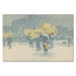 Lenço de papel do inverno de Bertha Lum