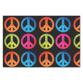 Lenço de papel do presente com sinais de paz