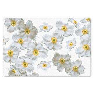 Lenço de papel do presente das flores brancas