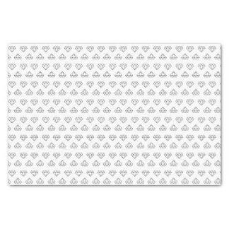 Lenço de papel do teste padrão do diamante