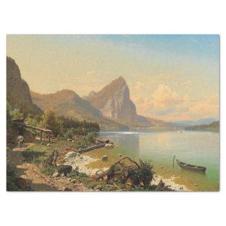 Lenço de papel do trajeto do lago mountain dos