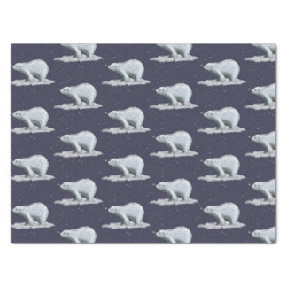 Lenço de papel do urso polar do floco de neve