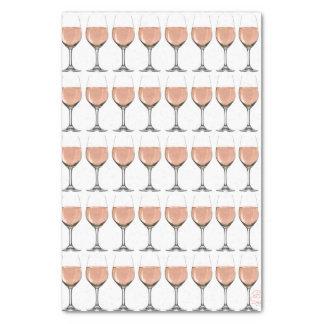 Papel De Seda Lenço de papel do vidro de vinho rosé