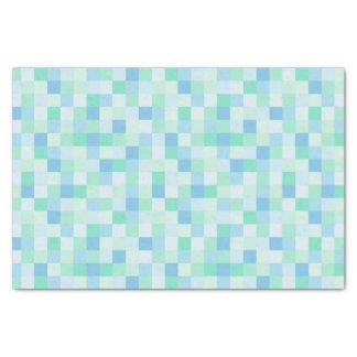 Lenço de papel dos quadrados do azul e do azul do