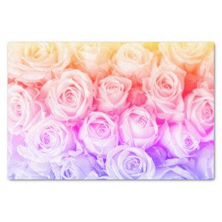 Lenço de papel dos rosas do arco-íris