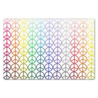 Lenço de papel dos sinais de paz do arco-íris