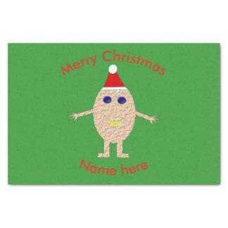 Lenço de papel engraçado do ovo do Natal