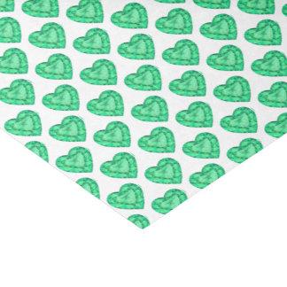 Lenço de papel esmeralda verde da arte da aguarela