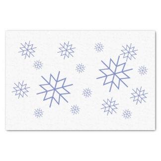 Lenço de papel - flocos de neve azuis