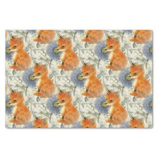 Lenço de papel floral azul da hera do Fox do bebê