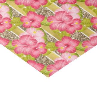 Lenço de papel floral cor-de-rosa elegante do