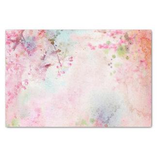 Lenço de papel floral da aguarela cor-de-rosa