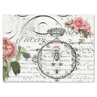Lenço de papel floral de Decoupage do roteiro da