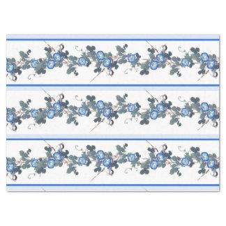 Lenço de papel floral dos pássaros da corriola