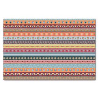 Lenço de papel geométrico colorido tribal do teste