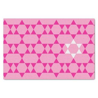 Lenço de papel judaico cor-de-rosa da estrela