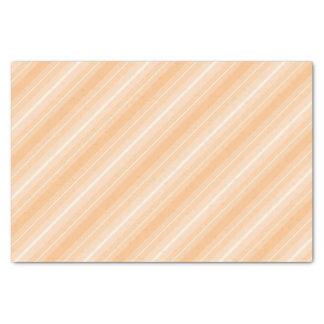 Lenço de papel listrado alaranjado Pastel