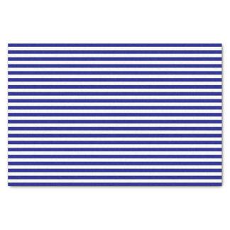 Lenço de papel listrado azul e branco