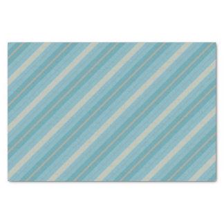 Lenço de papel listrado azul e cinzento