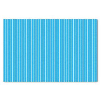 Lenço de papel listrado azul triplo