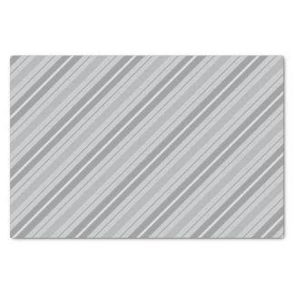 Lenço de papel listrado cinzento