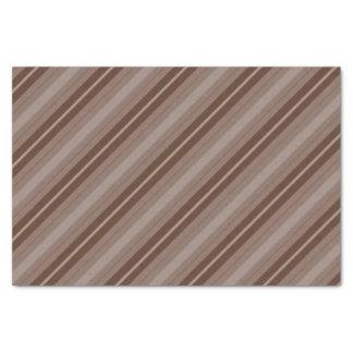 Lenço de papel listrado de Brown e de Tan