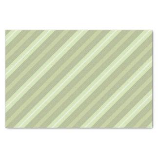 Lenço de papel listrado do verde prudente