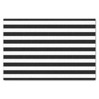 Lenço de papel listrado preto e branco
